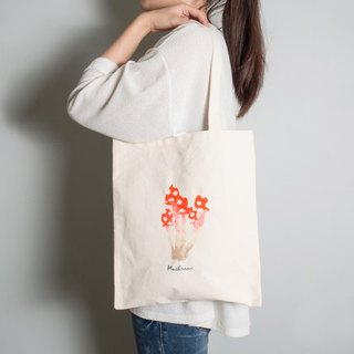 Hand-painted handprints Peibu little bags [mushrooms] sided pattern hand / shoulder red / blue