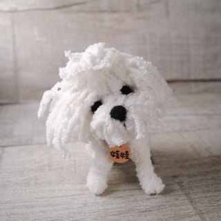 Pets avatar 14 ~ 15cm [feiwa Fei handmade doll] Maltese Pet Doll (Welcome to order your dog)