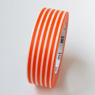 Mt and paper tape Deco [horizontal stripe - orange (MT01D321)] finished product / out of print