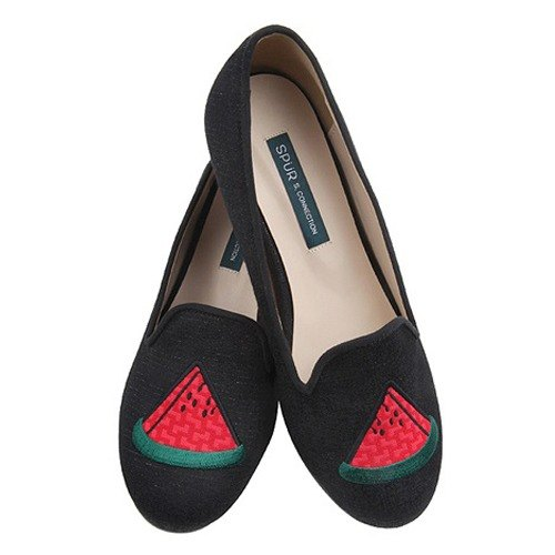 【2017 MUST HAVE ITEM】SPUR Cute watermelon flatsHS7043 BLACK