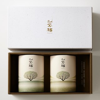 Earth gold tea gift box double round tank group