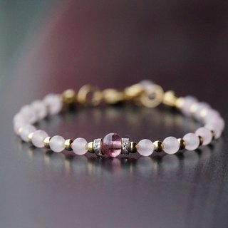ITS-B004 [natural stone series / tourmaline] powder crystal / tourmaline / 14KGF bracelet.