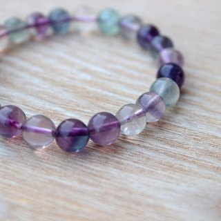 ☆, .- * '108 perles] purple denier natural rainbow fluorite bracelet 6mm, 8mm