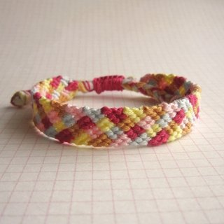 Plaid fun lucky rope woven bracelet (optional color)