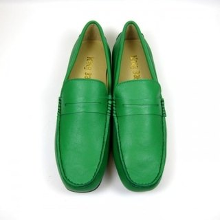 Fort Tony Wang handmade leather shoes (M) [sheep / soled / green]