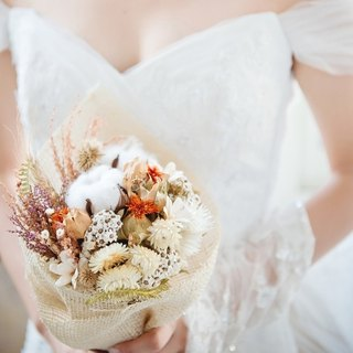 Autumn romantic - dry bouquet wedding dress bouquet*exchange gift*Valentine's Day*wedding*birthday gift