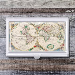World Map - Business Card Holder / Card Case / Office Worker Accessories [Special U Design]
