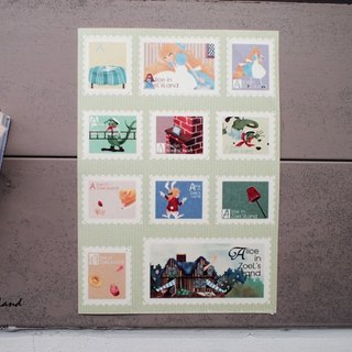 Fake stamps and paper stickers*Small rabbits sent Bill*Alice in Wonderland Chapter IV