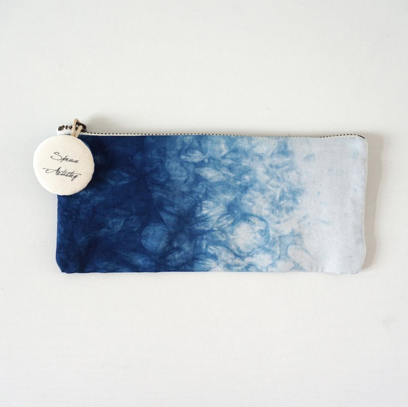 S.A x Sparkle, Indigo dyed Handmade Natural Pattern Pencil Case