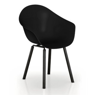 TOOU ArmShell Chair with black oak legs (black)