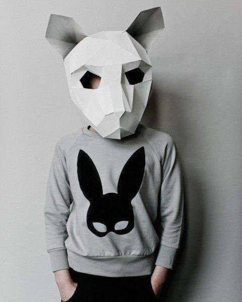 2015春夏 Beau loves 灰色 Rabbit mask 休閒上衣