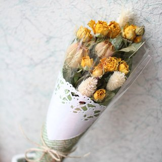 [Small bouquet of dried yellow rose] - Preserved flowers / dried flowers / bouquet jewelry / wedding bouquets Bouquet / Flower Ceremony