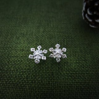 Christmas little snowflake (925 sterling silver earrings) - C percent jewelry