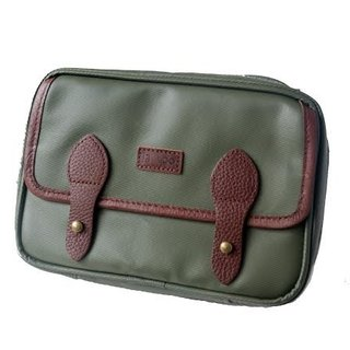 Big Travel: leather canvas diagonal bag / passport cover iphone plus mobile phone sets (military green waterproof matte)