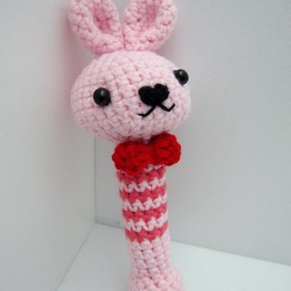 Bunny. Knitting wool rattle ~ cutest births ceremony