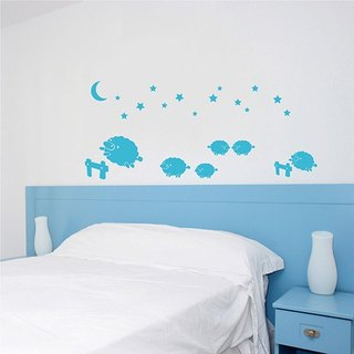 Smart Design Creative trace wall stickers under the stars flock ◆