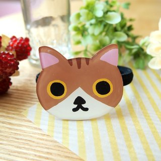 Meow - big fat face hairband - brown and white