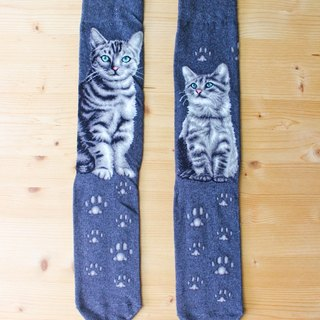 JHJ Design Canada brand series of high-saturation knitting socks cat American Shorthair (Male) cute kitty cat