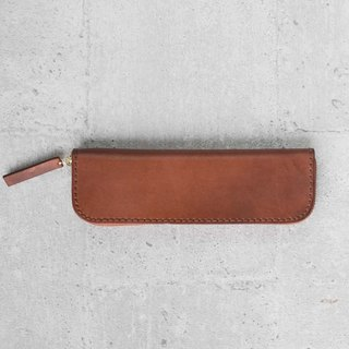 Brown classy cow hide Leather Pencil Case