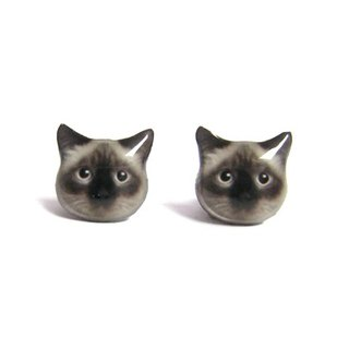 Cat earrings can Aibo Man A025ER-C08