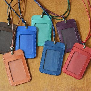 Fading Mist Leather ID Card Holder