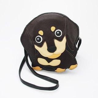 Sleepyville Critters - Brown Wiener Puppy Shoulder Crossbody Bag