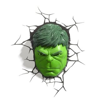 3D Light FX - Marvel Series Hulk Face - 3D立體造型燈 浩克臉