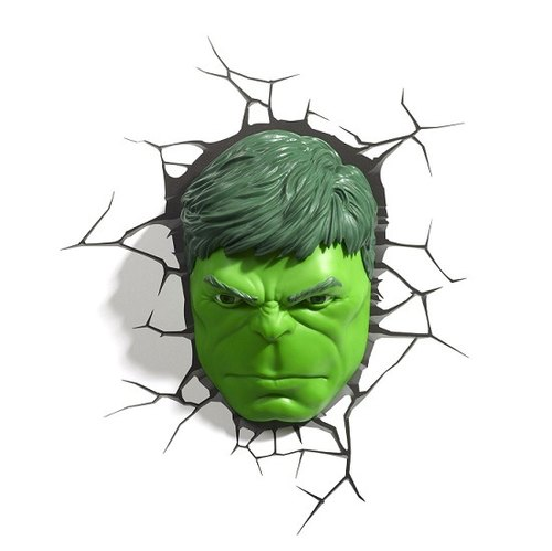 3D Light FX - Marvel Series Hulk Face