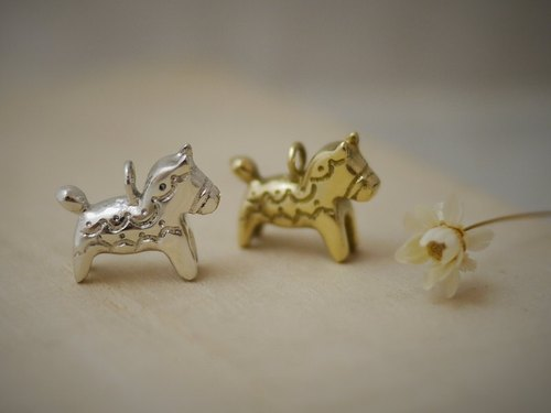 [Jin Xialin ‧] Dala horse necklace jewelry - bright polished copper