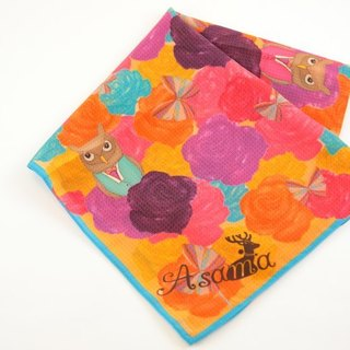 Asama designer scarf / owl love song Happy Owl