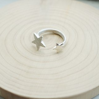 Twin stars 925 Sterling Silver Ring, Handmade Jewelry