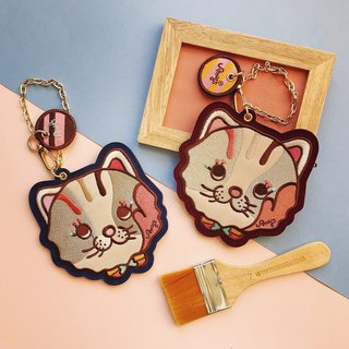Amy's Cat Flock Card Holder X Purse Total Color