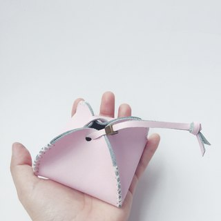Zemoneni Leather purse all purpose for coin in pink color