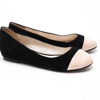 [Saint Landry] LAND patent leather ballet shoes stitching design (black rice)