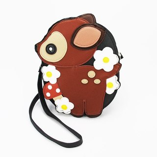 Sleepyville Critters Baby Deer with Flowers Shoulder Crossbody Bag