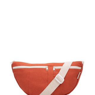 Red peach belt bag