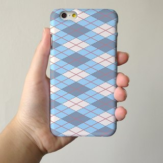 Blue Argyle Pattern 3D Full Wrap Phone Case, available for  iPhone 7, iPhone 7 Plus, iPhone 6s, iPhone 6s Plus, iPhone 5/5s, iPhone 5c, iPhone 4/4s, Samsung Galaxy S7, S7 Edge, S6 Edge Plus, S6, S6 Edge, S5 S4 S3  Samsung Galaxy Note 5, Note 4, Note 3,  No