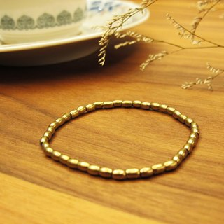 Brass Bracelet (08) - Gold Wire Series
