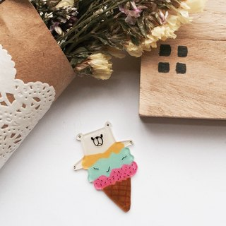 Ice bear brooch