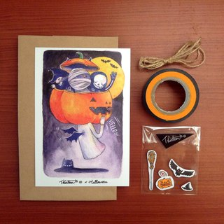 {139}Happy halloween,illustration postcard