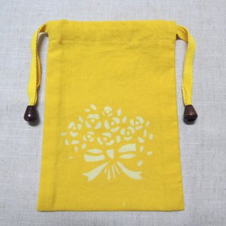 Mumu [vegetation] turmeric vegetable dyes dyed yellow pouch (bouquet paragraph)