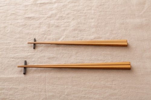 Pint! Kyoto bamboo chopsticks bamboo white paint rub 22.5cm