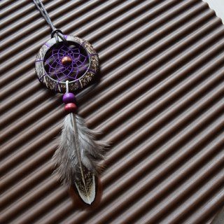 Dream Catcher // Necklace // Wooden // Purple