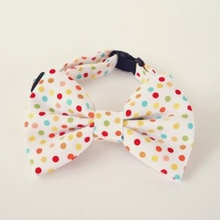 [Miya ko.] Handmade cloth grocery cats and dogs tie / tweeted / bow / cute little colorful / pet collars