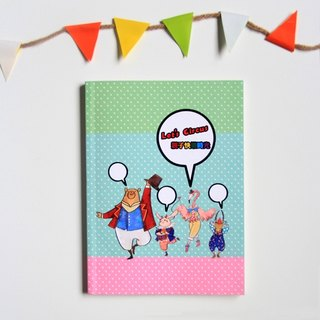 MUAH * Let's Circus fun games notebook