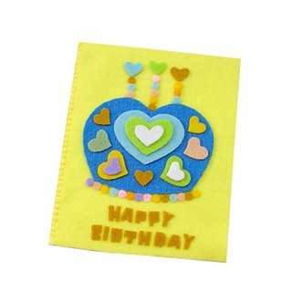 Handmade non-woven card _ Love Crown Cake Birthday Card C