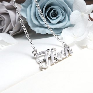 Custom necklace name/letter/English text/name necklace classic sterling silver necklace