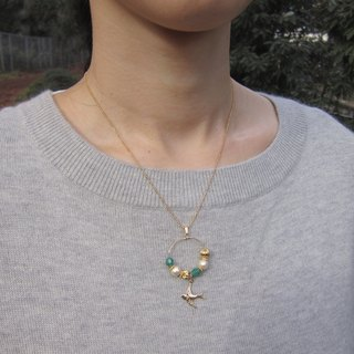 Swallow necklace (Green)