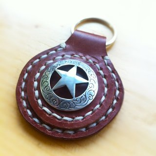 50. The hand-stitched leather key chain / key chain / key ring