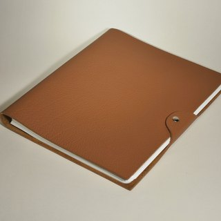 Coffee leather notebook (large)